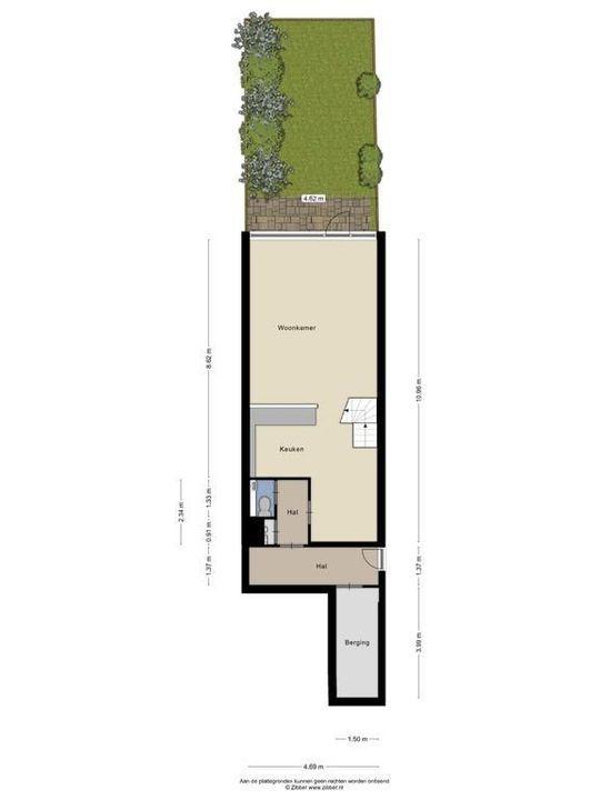 Zjoekowlaan 37, Delft plattegrond-2