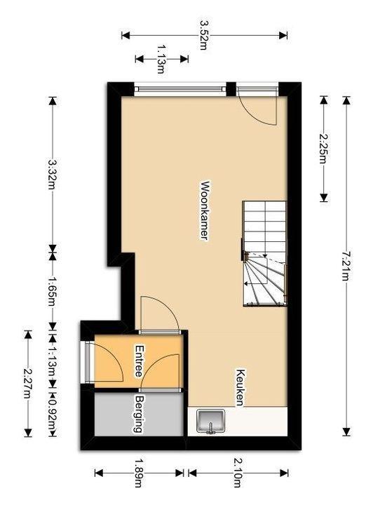 Rietveld 21 B, Delft plattegrond-0