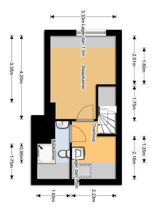 Rietveld 21 B, Delft plattegrond-1