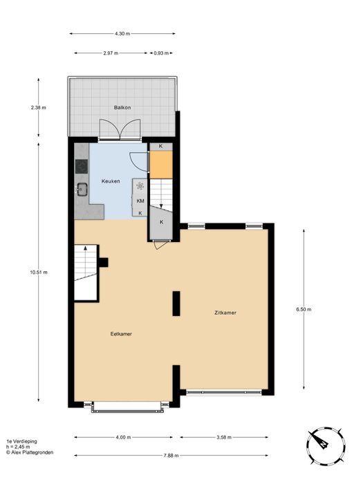 Trompstraat 31 . floorplan