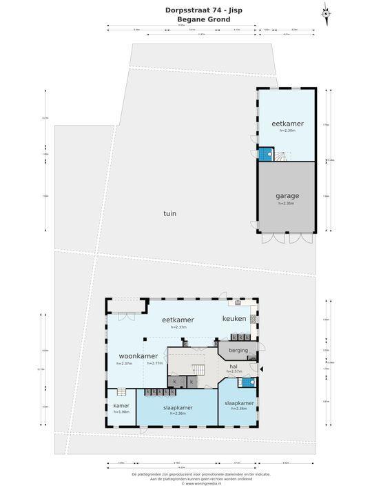 Dorpsstraat 74, Jisp plattegrond-