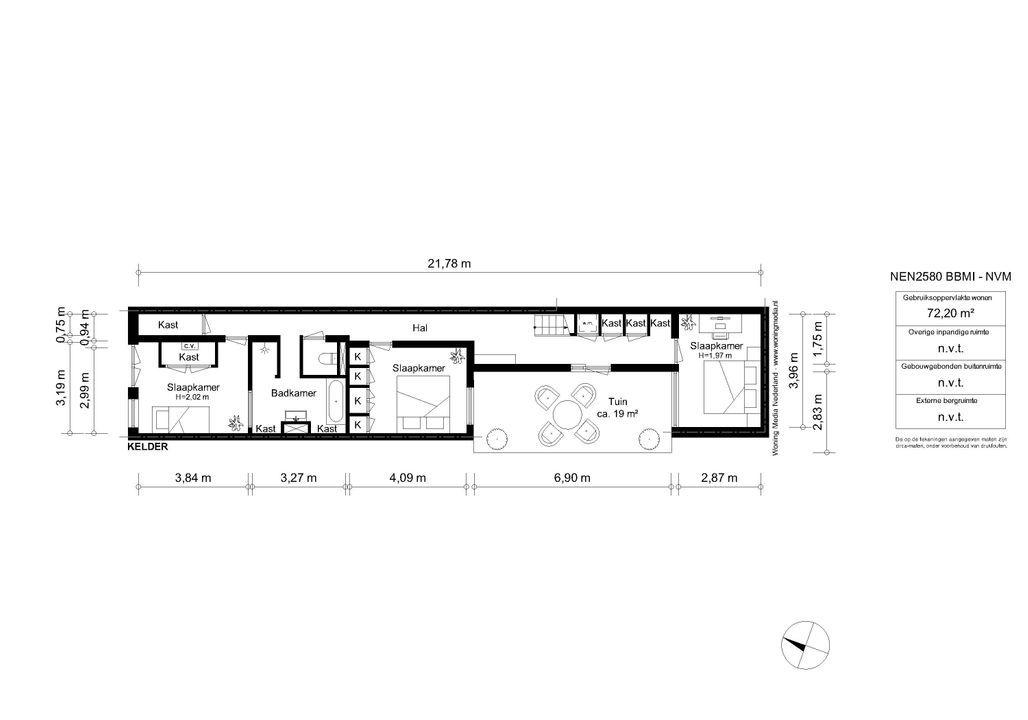 Egelantiersgracht 25 /HS, Amsterdam plattegrond-