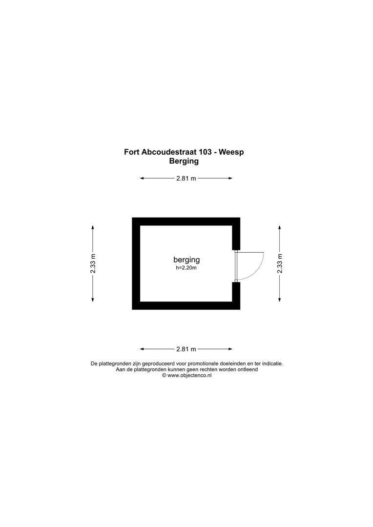 Fort Abcoudestraat 103, Weesp foto-