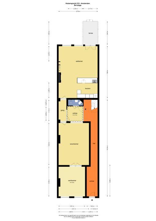 Keizersgracht 519 A, Amsterdam plattegrond-