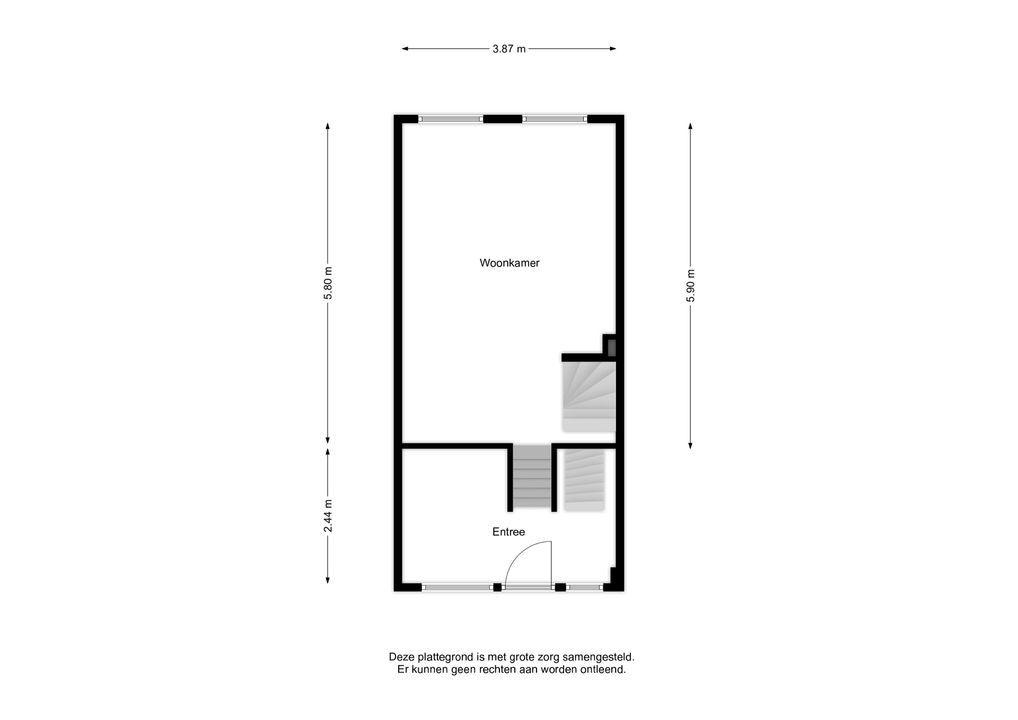 Lindengracht 186, Amsterdam plattegrond-
