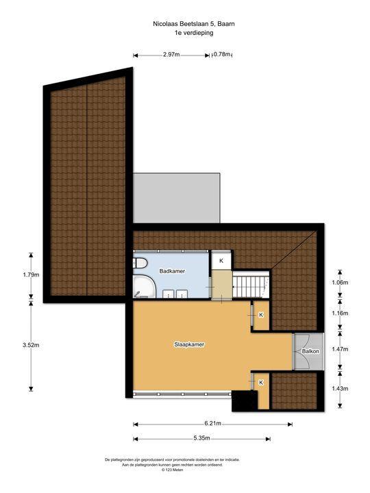 Nicolaas Beetslaan 5, Baarn plattegrond-