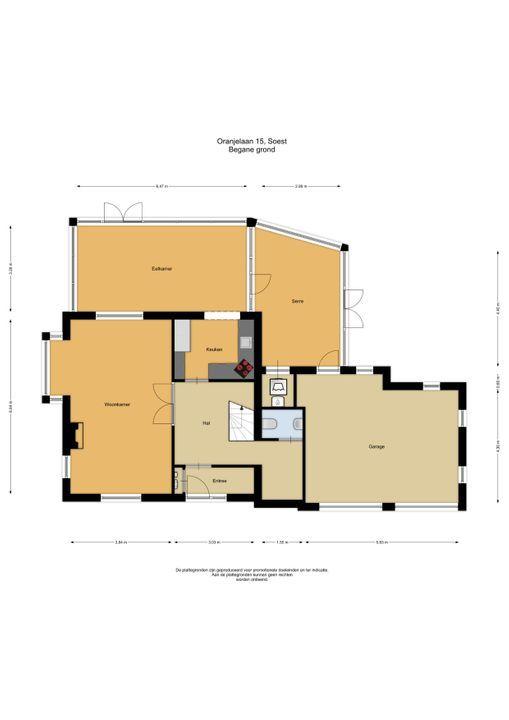 Oranjelaan 15, Soest plattegrond-