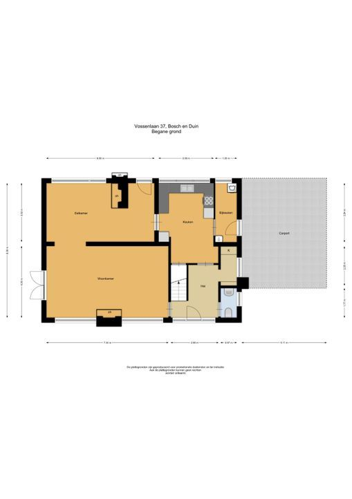 Vossenlaan 37, Bosch En Duin plattegrond-
