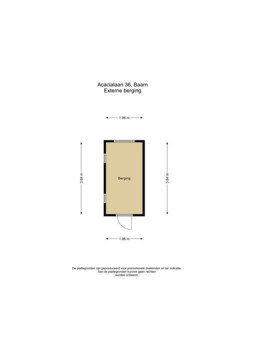 Acacialaan 36, Baarn plattegrond-
