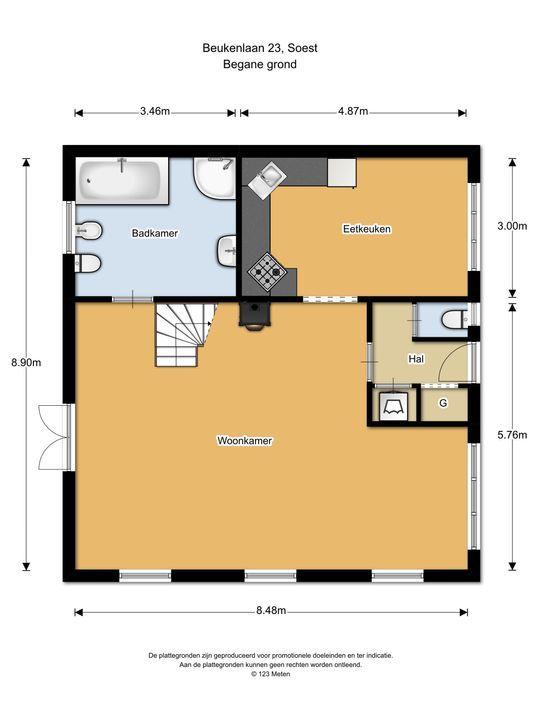 Beukenlaan 23, Soest plattegrond-