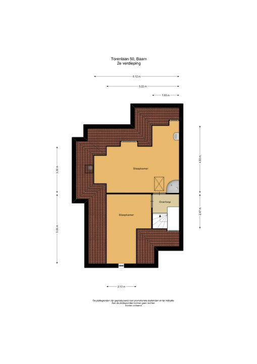 Torenlaan 50, Baarn plattegrond-