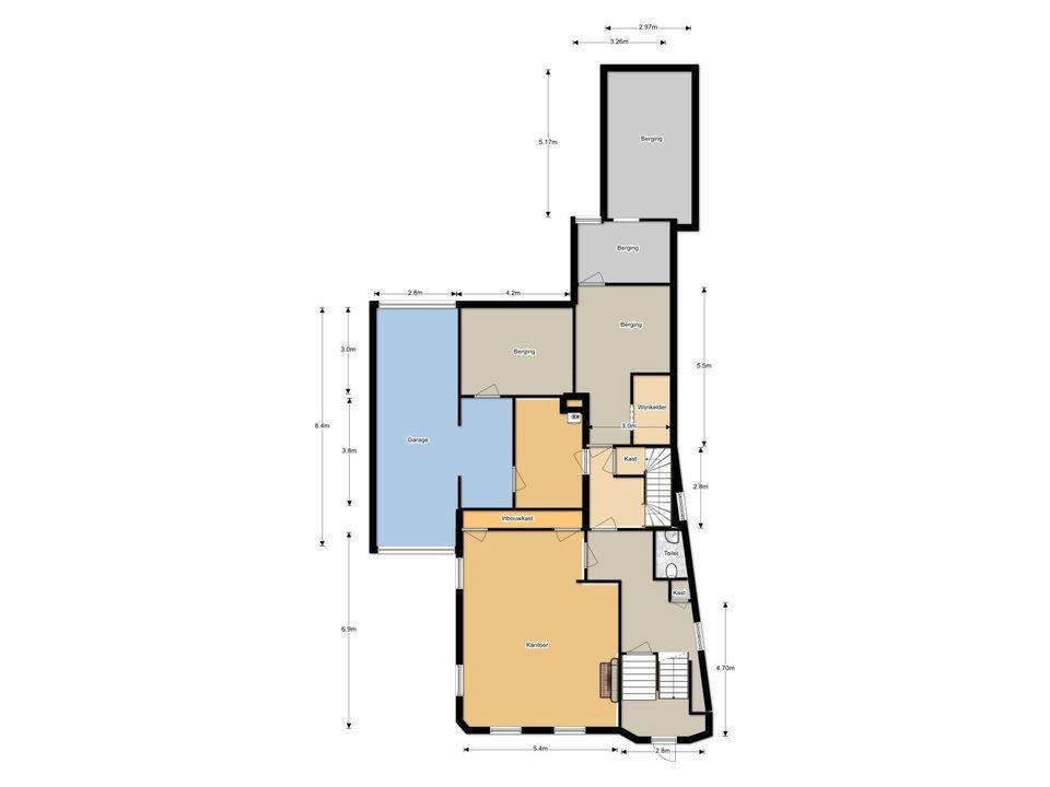 Professor Dondersstraat 45, Tilburg plattegrond-