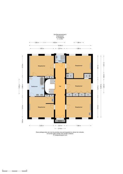 Ste Bernaertsstraat 6, Oudenbosch plattegrond-