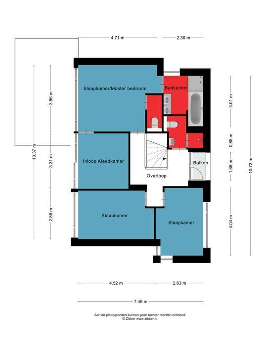 Witte Hoeflaan 31, Oss plattegrond-