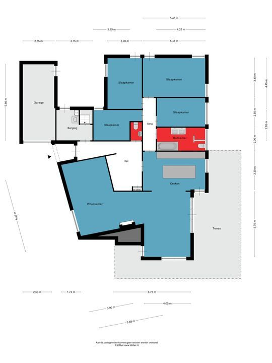 Molenstraat 16, Lith plattegrond-