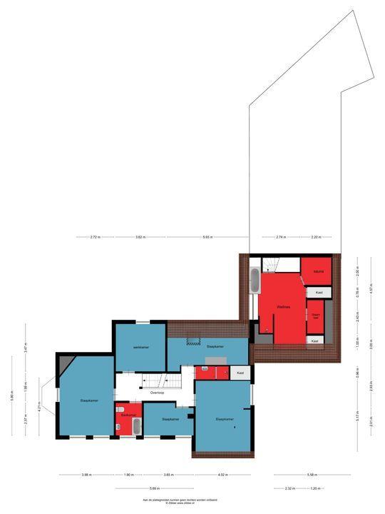 Beatrixlaan 2, Oss plattegrond-