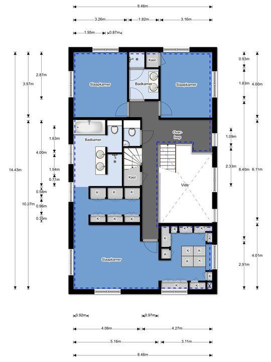 Perzikhof 1, Bergschenhoek plattegrond-