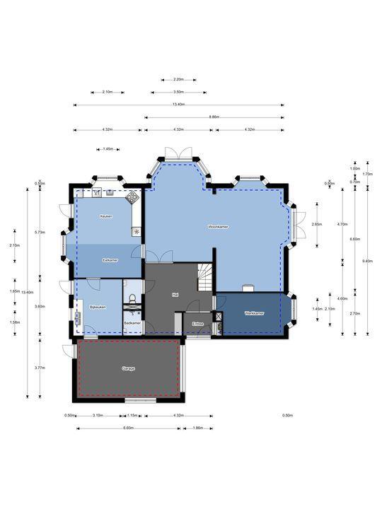 Vlietkade 3 A, Zevenhuizen plattegrond-