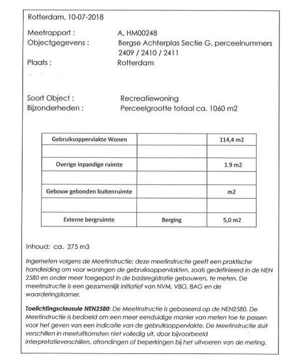 Bergse Achterplas 2410 ong, Rotterdam plattegrond-