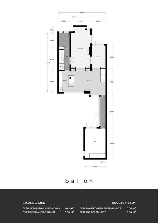 Van Ballegooijsingel 14, Rotterdam plattegrond-