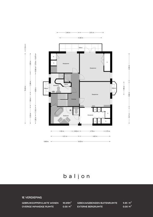 Burgemeester Knappertlaan 53, Schiedam plattegrond-
