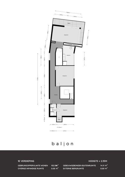 Schiedamseweg 111, Schiedam plattegrond-
