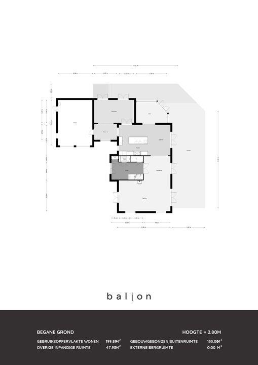 Walnoothof 3, Bergschenhoek plattegrond-