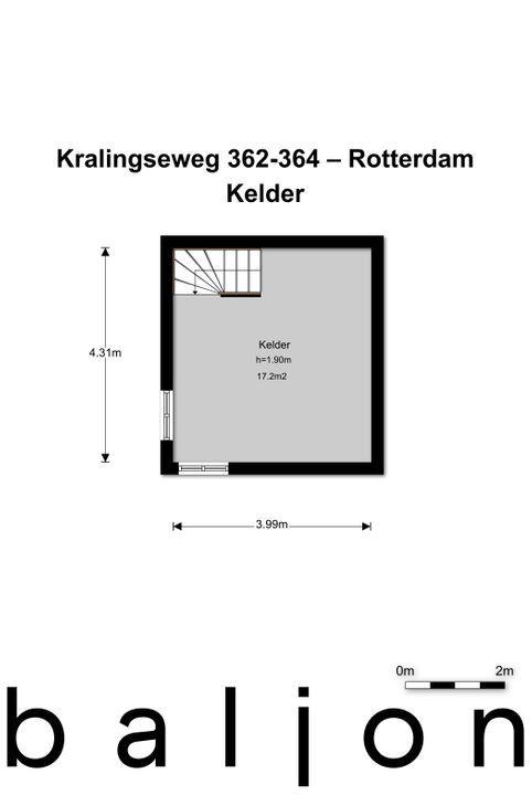 Kralingseweg 362 -364, Rotterdam plattegrond-