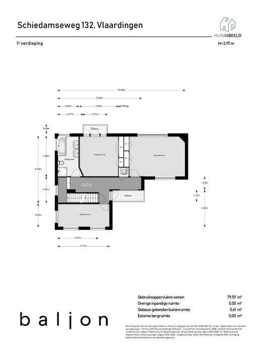Schiedamseweg 132, Vlaardingen plattegrond-