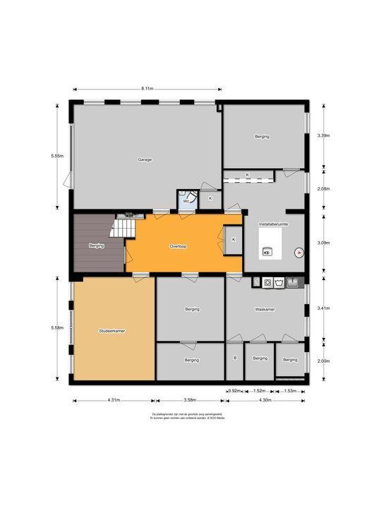 Laan van Woudestein 27, Rotterdam plattegrond-