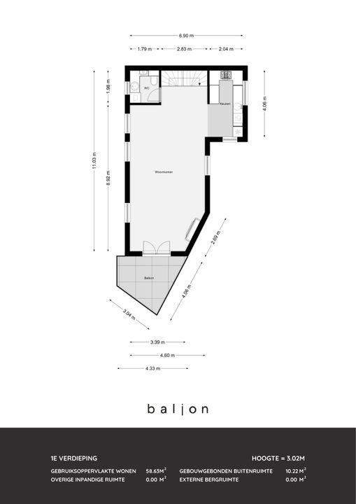 Hoflaan 103, Rotterdam plattegrond-