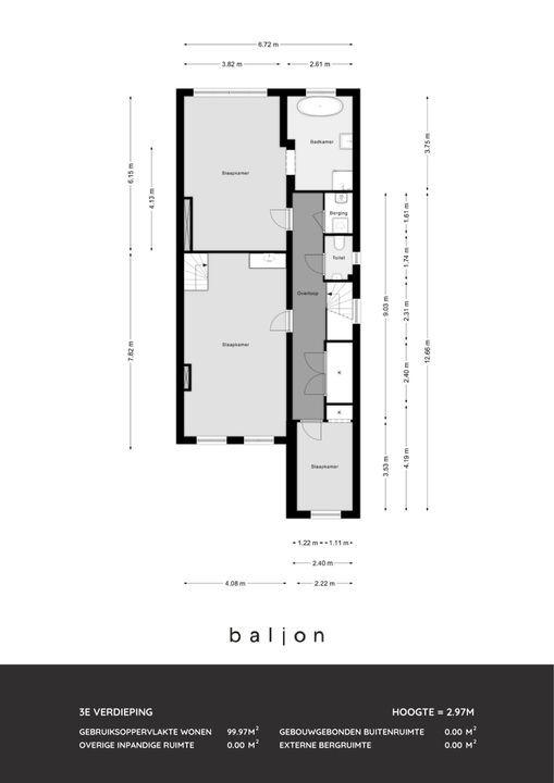 Mathenesserlaan 461 B, Rotterdam plattegrond-