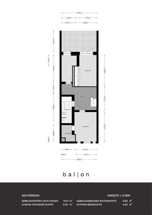 Heemraadssingel 112 B, Rotterdam plattegrond-