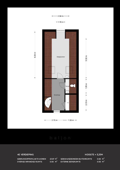 Voorstraat 235, Dordrecht plattegrond-