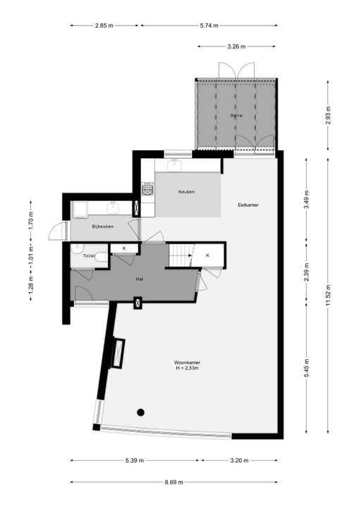Rubenslaan 181, Bergschenhoek plattegrond-