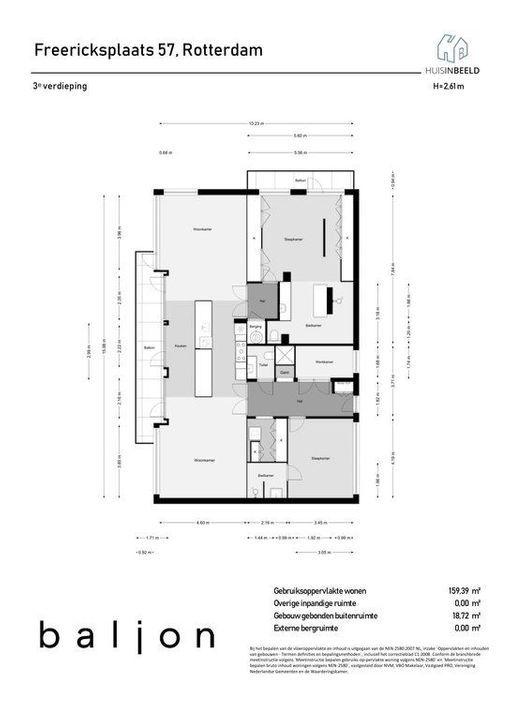 Freericksplaats 57 -59, Rotterdam plattegrond-