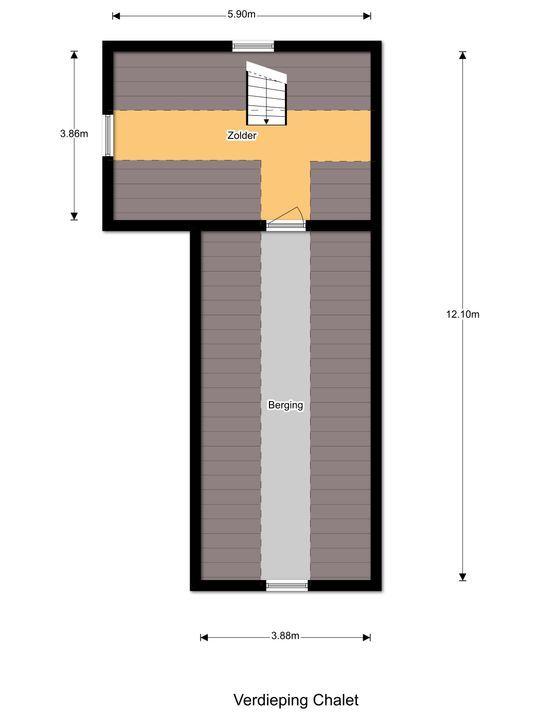 Valkenlaan 25, Oostvoorne plattegrond-