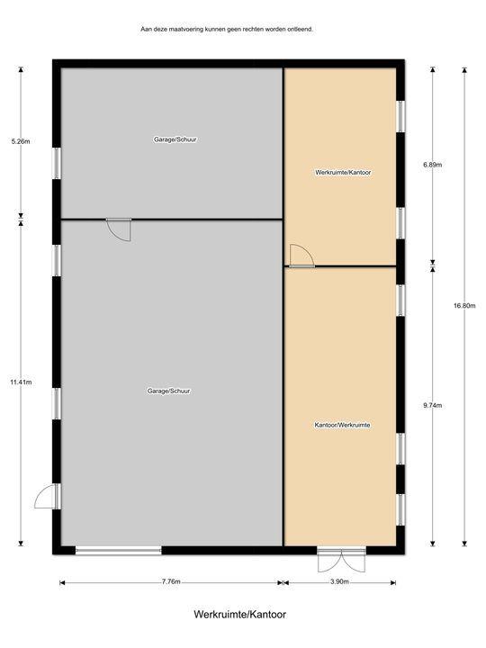 Oudemolensedijk 2 B, Fijnaart plattegrond-