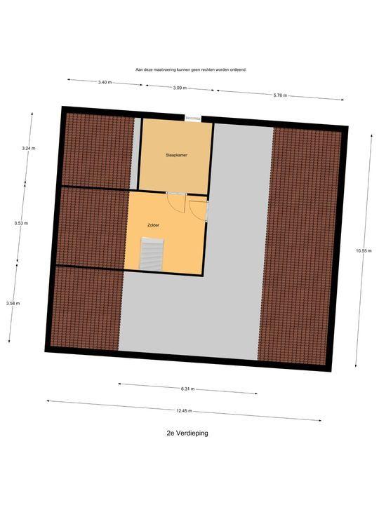 Hollemaarsedijk 6, Zwartewaal plattegrond-