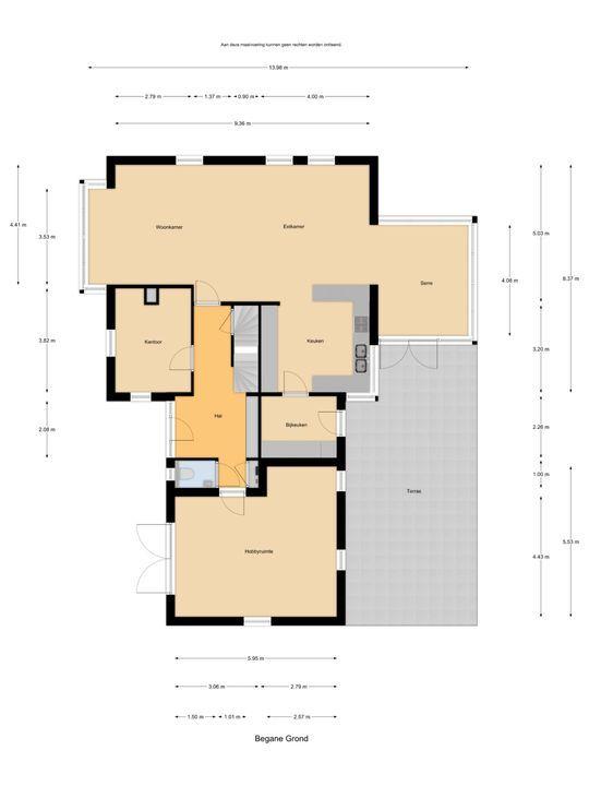 Vroonweg 2, Achthuizen plattegrond-