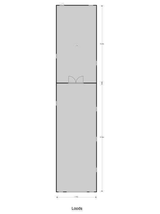 Molendijk 6, Oostvoorne plattegrond-