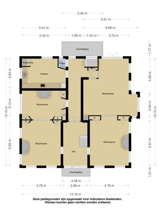 Buorren 7, Oudega plattegrond-