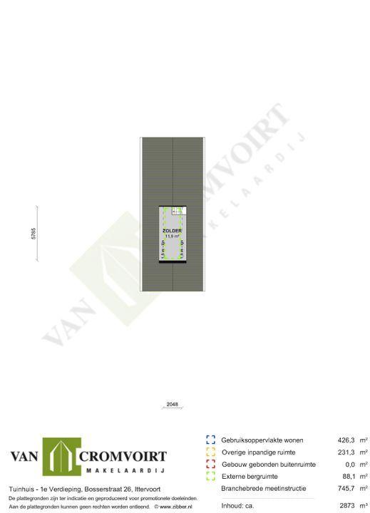 Bosserstraat 26, Ittervoort plattegrond-