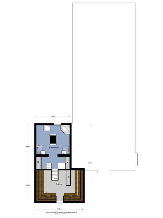 Achthovenerweg 7, Leiderdorp plattegrond-