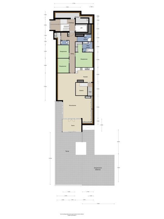 Huis ter Duinstraat 40 h, Noordwijk plattegrond-