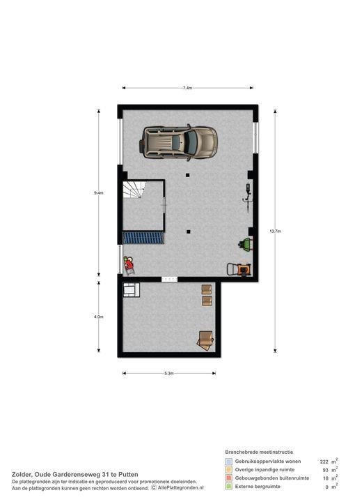 Oude Garderenseweg 31, Putten plattegrond-