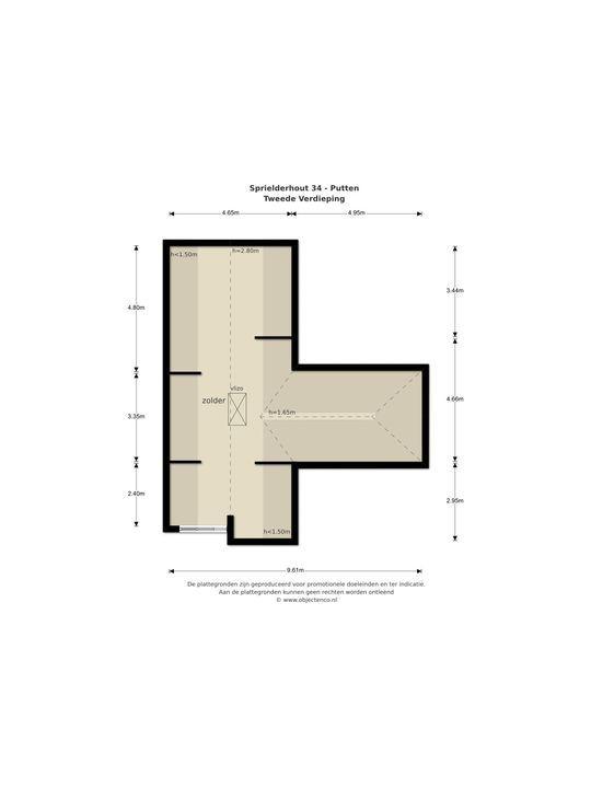 Sprielderhout 34, Putten plattegrond-
