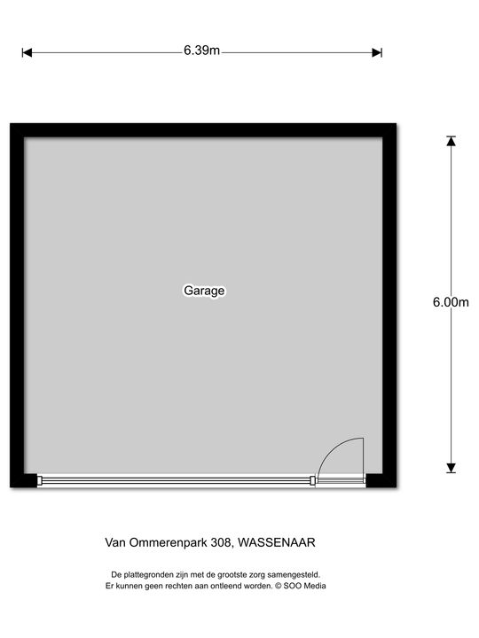 Van Ommerenpark 308, Wassenaar plattegrond-