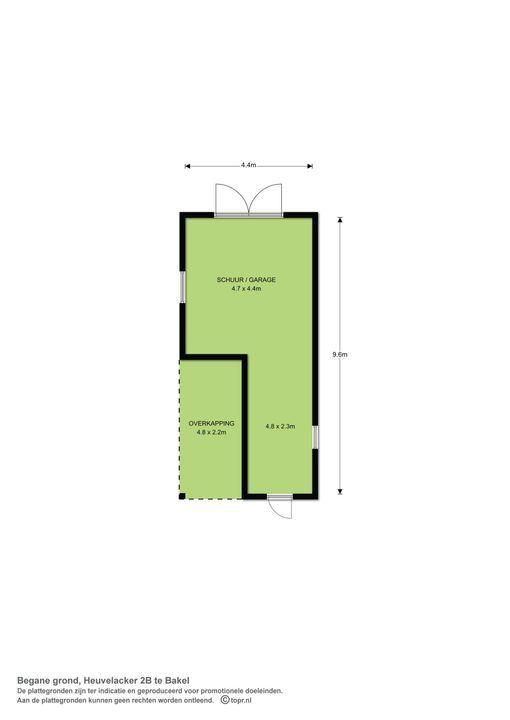 Heuvelacker 2 b, Bakel plattegrond-