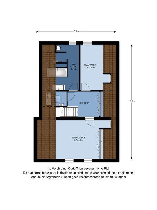 Oude Tilburgsebaan 14, Riel plattegrond-